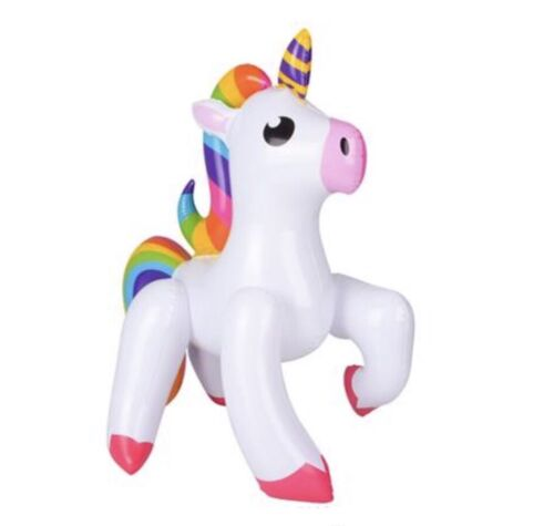Rainbow Unicorn 24/'/' Inflatable Blow Up Prop Jungle Animal Child Play Toy