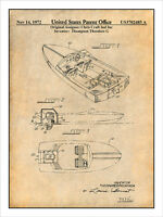 1972 Chris Craft Outboard Motorboat Patent Print Art Drawing Poster 18x24