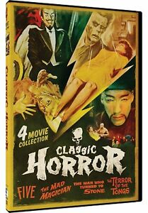 NEW-DVD-Classic-Horror-4-Movie-Collection-Five-The-Made-Magician-2-more
