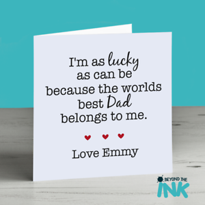 Image Is Loading Personalised Cute Father 039 S Day Card