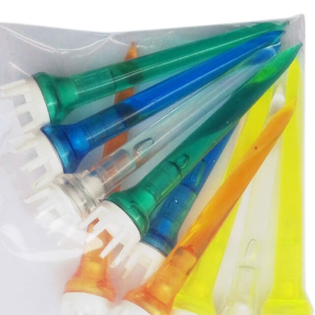 50pcs Mixed Color Plastic Crown Shape Claw Cushion Top Golf Tees 78mm _r