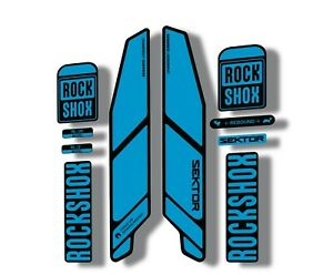 Rock Shox SEKTOR 2018 Fork Decal Mountain Bike Cycling Sticker Adhesive Blue