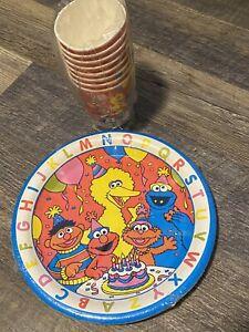 2 PACKS OF 8 SESAME STREET ABC PAPER CUPS Birthday Party Supplies Elmo Big Bird