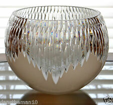 """FABERGE GLACON ANTARCTICA 8""""H  CENTERPIECE ROSE BOWL OPAL CASED CRYSTAL"""