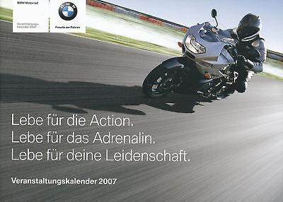 Bmw Motorrad Veranstaltungskalender 2007 Prospekt Motorradprospekt Broschüre Geeignet FüR MäNner Und Frauen Aller Altersgruppen In Allen Jahreszeiten