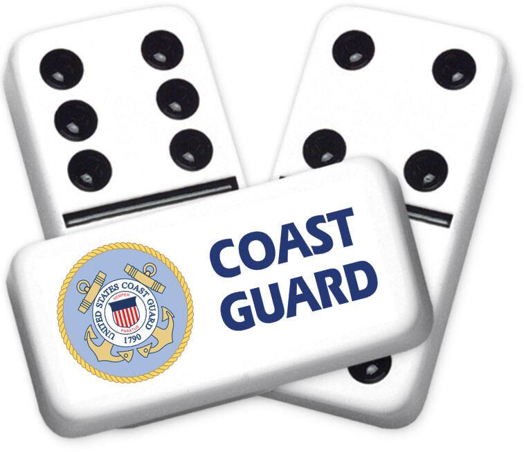 Career Series Coast Guard Design Double six Professional Größe Dominoes