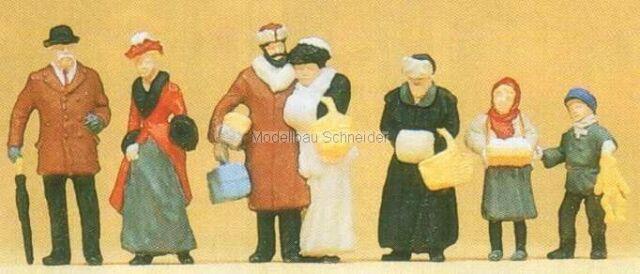H0 Preiser 12195 Del Weihnachtsmarkt. Figure. Conf. Orig.