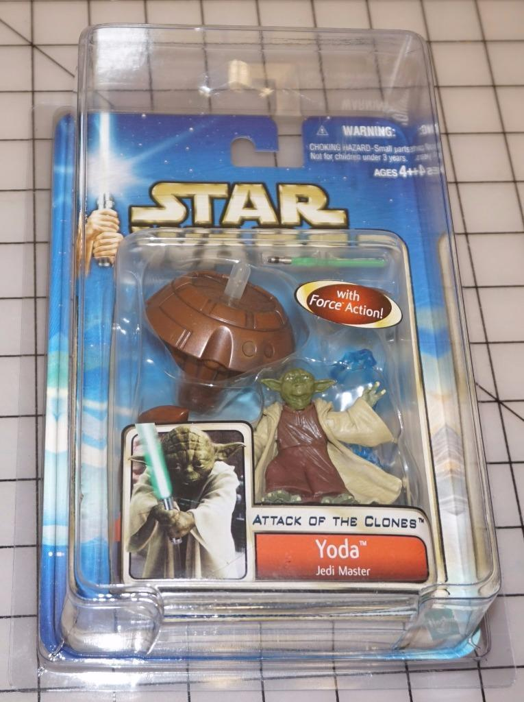 Star wars jedi - meister yoda hasbro figur - action - figur hasbro dreht action - 0d6629