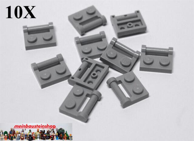Lego 10 stck Platten mit Griff 1x2 in Schwarz Neu