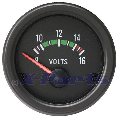 Retro 52mm Voltanzeige schwarz Audi VW Opel Fiat für BMW