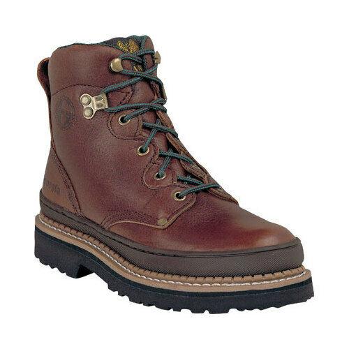 "Georgia Boot Women's   G33 6"" Safety Toe B Work Boot Soggy Brown Full Grain"