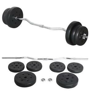 kettle bell workout pro55 lb barbell dumbbell weight set lifting 30566