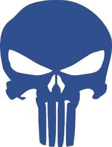 Aufkleber Punisher Kopf Skull Totenkopf blau Autoaufkleber 20 x 26 cm Sticker