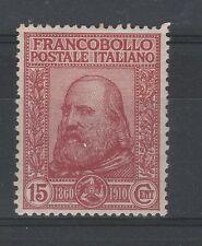 FRANCOBOLLI 1910 REGNO C.15 GARIBALDI D/2318