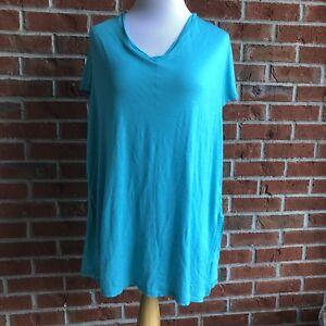 d7167c888e Venus Bathing Suit Cover Up Side Split Dress - One Size - Aqua ...