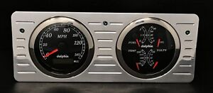 Compatible with 1940 1941 1942 1943 1944 1945 1946 1947 Ford Truck 3 3//8 Quad Style GPS Gauge Dash Cluster Panel Black