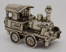 Vintage Solid Silver Italian Train Locomotive Miniature - Stamped - Italian Made