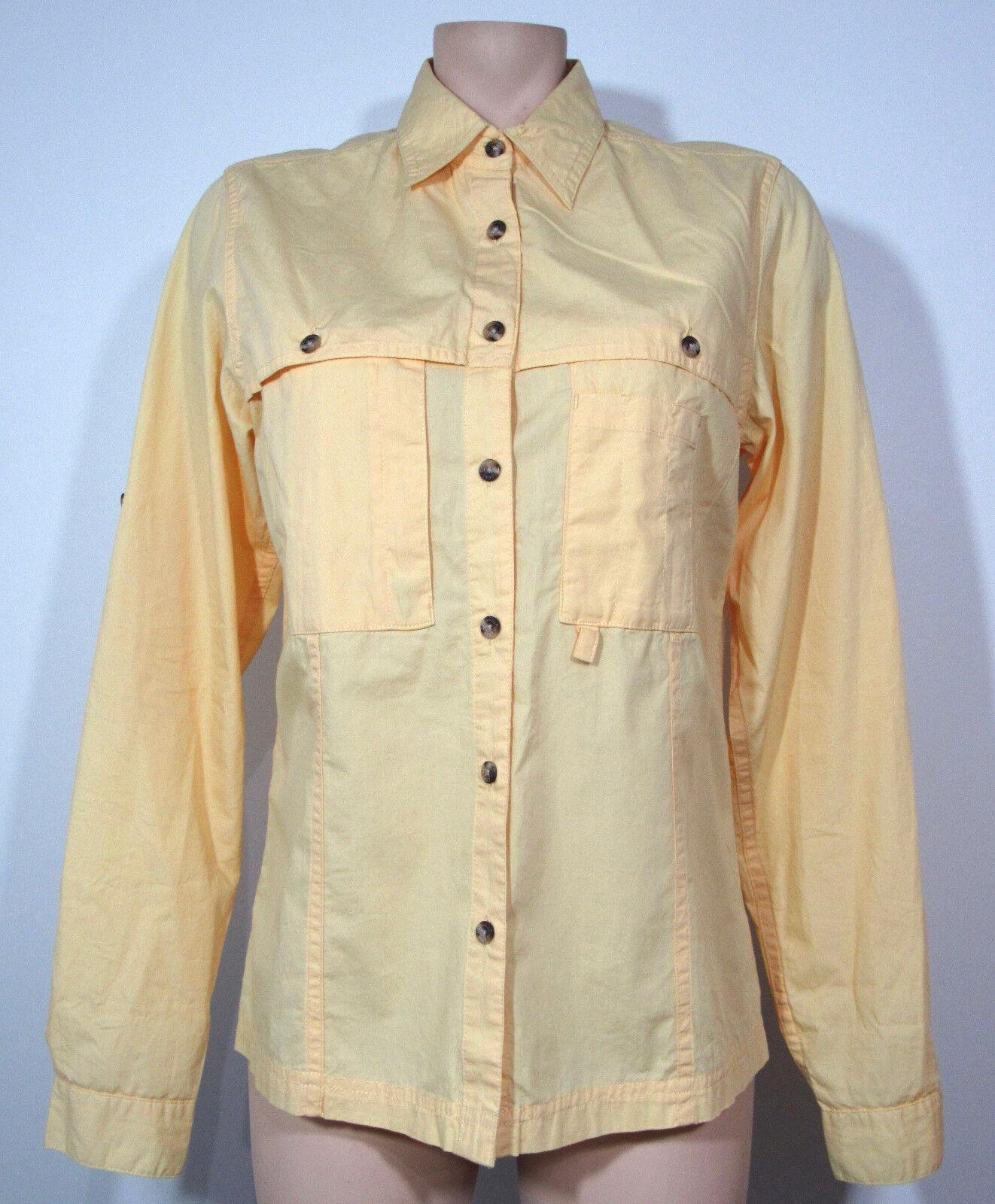 C C Filson Co Seattle Womens Shirt Medium Button Down Yellow