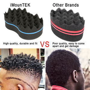 Double Sided Barber Hair Brush Sponge Dreads Locking Twist Coil Afro Curl Wave Home Appliance Parts