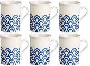 f381508db27 Das Bild wird geladen Rayware-Set-6-Blau-Becher-30cl-Kaffeebecher-Tee-