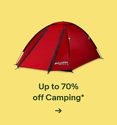 Up to 70% off Camping*