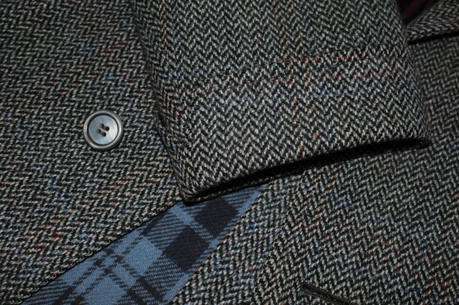 CHESTER BARRIE manteau taille 50 Savile cousus robuste gris handmade Savile 50 Row 26906e
