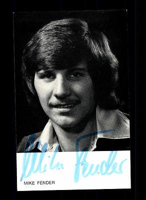 Original, Nicht Zertifiziert Konstruktiv Mike Fender Autogrammkarte Original Signiert ## Bc 104207