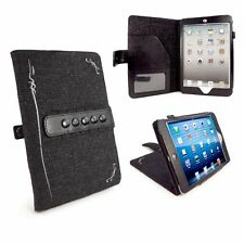 Tuff Luv Hemp iPad Mini & Retina Hand Made Folio Case Stand Auto Sleep Charcoal