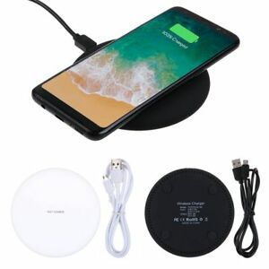 QI Wireless Fast Charger 1A Pad Samsung Galaxy S8 S9 S10 iPhone X XS MAX 8 8 +