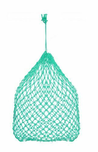 Teal Poly Knotted Nylon Rope SUPER Slow Feed Hay Net Bag with Draw String