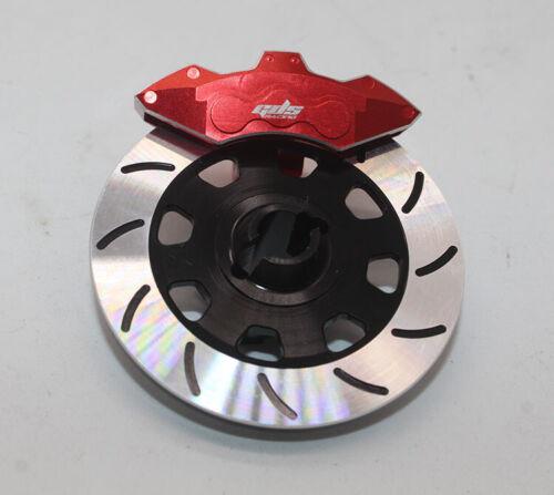 GDS Racing Aluminum Wheel Hex Hub Brake Disc and Red Caliper for Traxxas UDR