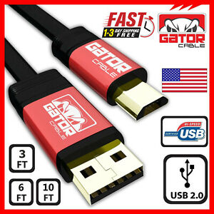 Micro-USB-2-0-Cable-Cord-Charger-Sync-Data-For-Samsung-S4-S6-S7-Note-4-5-HTC-LG