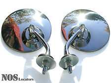 Chrome Wing Mirror Set of 2 -MGTD, MGA, TR3, XKE, Rolls