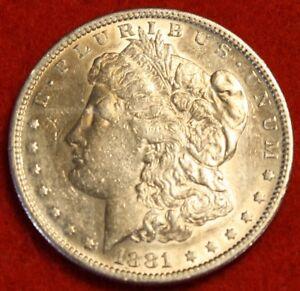 1881 S $1 Morgan Silver Dollar Coin BU Choice Uncirculated