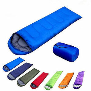 All-Weather-Folding-Thick-Indoor-Outdoor-Camping-Sleeping-Bag-With-Case-Red