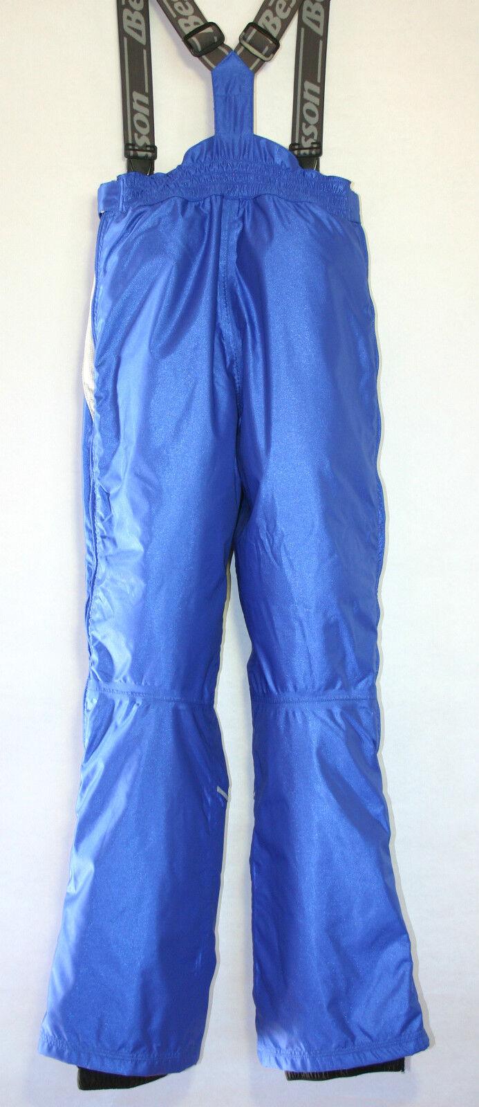 Anzi Besson Champlas Skihose Snowbordhose  Sidezip Sidezip Sidezip Träger  Damen 38 blau Neu d8929c