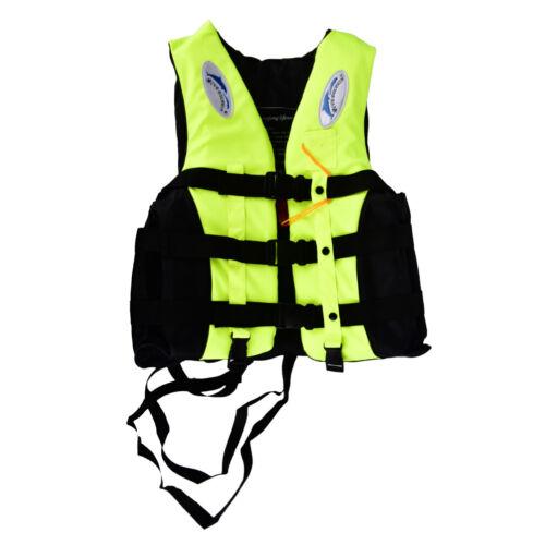 Polyester Adult Life Jacket Universal Swimming Boating Ski Vest+WhistleTC
