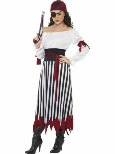 CA167 Pirate Lady Wench Buccaneer High Seas Fancy Dress Up Womens Costume Outfit
