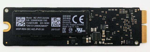Apple OEM 512GB SSD PCIe 3.0x4 SSUBX MZ-JPV5120/0A4 2013-2014 Air 2013-2015 Pro