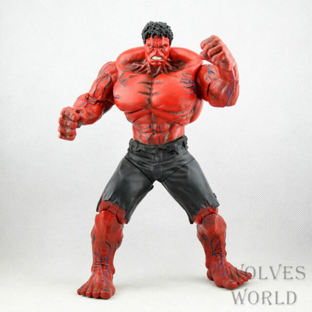 Super Heros Red Hulk Marvel Movie The Avengers PVC Action ...