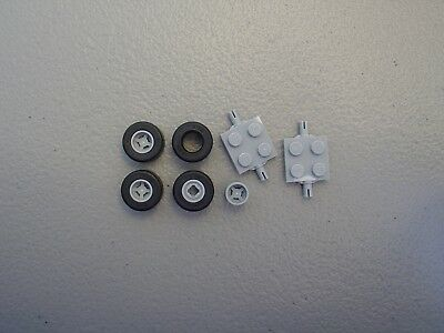 LEGO NEW Wheel /& Tire Lot Gray 14x9mm Smooth Slick Car Truck Plate 74967 30028