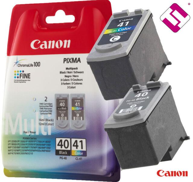Pack Cartridge Black Pg40 Colour Cl41 Original for Printer Canon Pixma IP 1200
