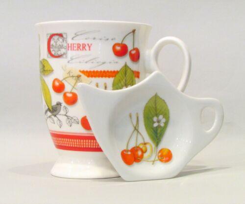 Teeset Becher mit Teebeutelablage /& Tee-Ei in Geschenkbox Scottish Cherry