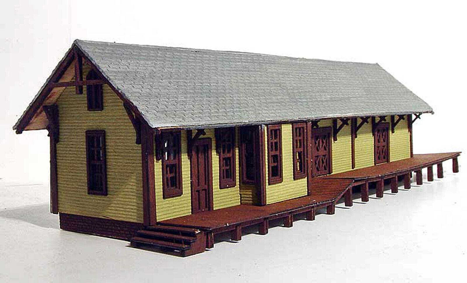 Centro Hall Depot N Scale Model Railroad estructura sin pintar KIT de corte láser LA863