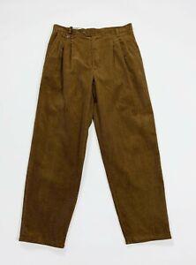 Codice-uomo-pantalone-velluto-a-coste-usato-W32-tg-46-marrone-boyfriend-T4840