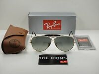 Ray-ban Shooter Havana Sunglasses Rb3138 181/71 Gold Frame/grey Lens 62mm on sale