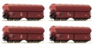 Roco-67083-HO-Gauge-DB-KKt57-High-Capacity-Side-Discharge-Hopper-Set-4-III