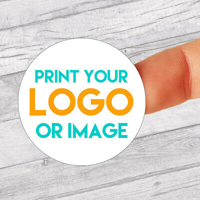 Personalised 37mm Circle Transparent Stickers BusinessCompany Name Labels Custom Logo