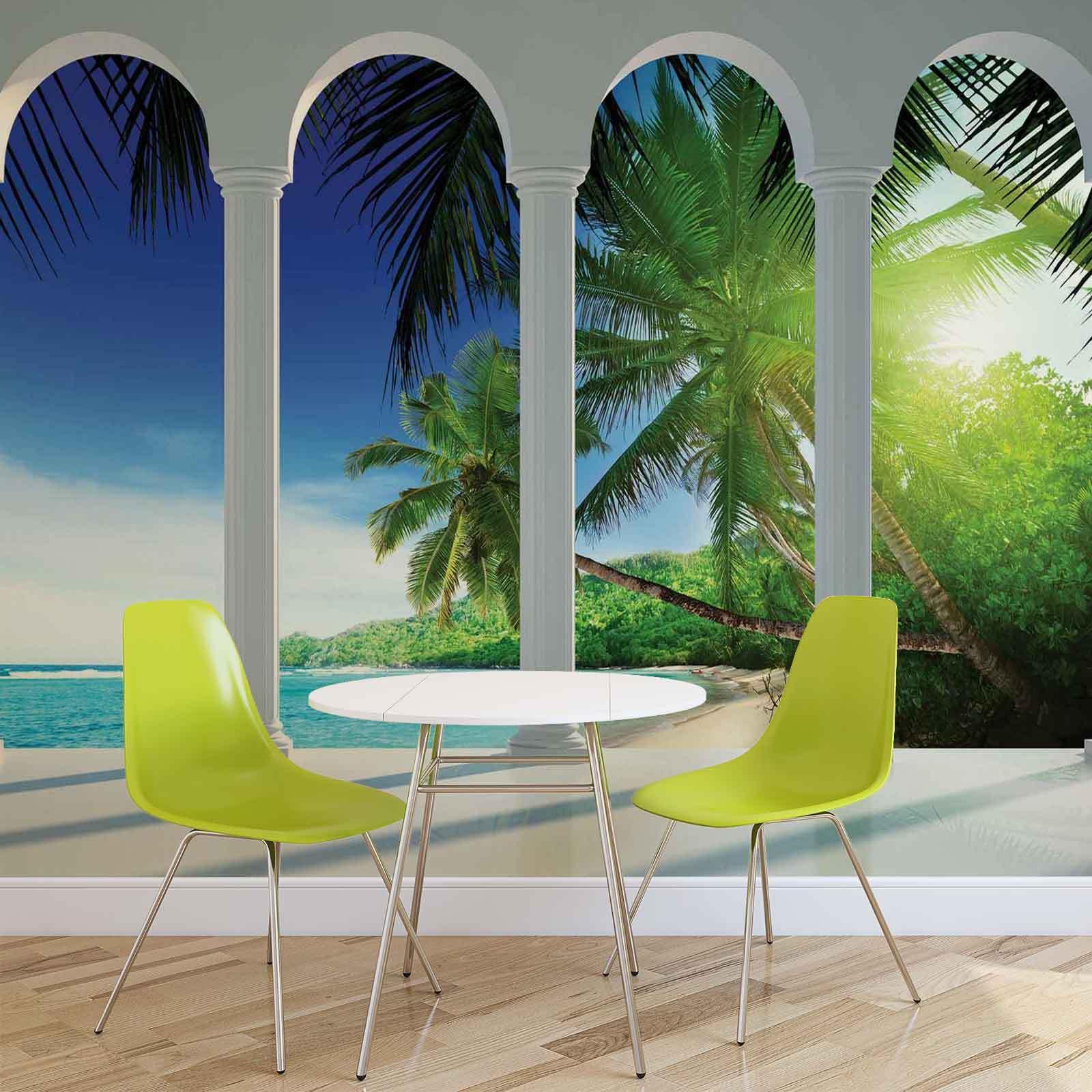 WALL MURAL PHOTO WALLPAPER XXL Beach Tropical Paradise Arches (2356WS)