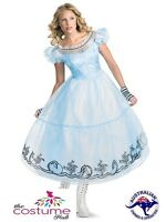 Deluxe Alice in Wonderland Adult Fairytale Fancy Dress Costume Size 6 - 20 AU